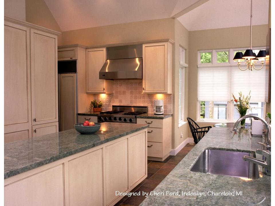 These Painted Cabinets Are Topped With A Custom Color Glaze.