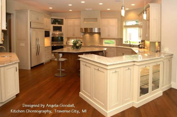 Painted kitchen cabinets,  Antique finishes